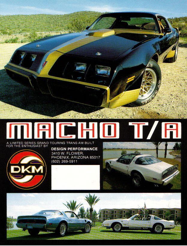 Original Vintage 1979 Macho Trans Am Brochure From DKM Courtesy Loren Garrigus