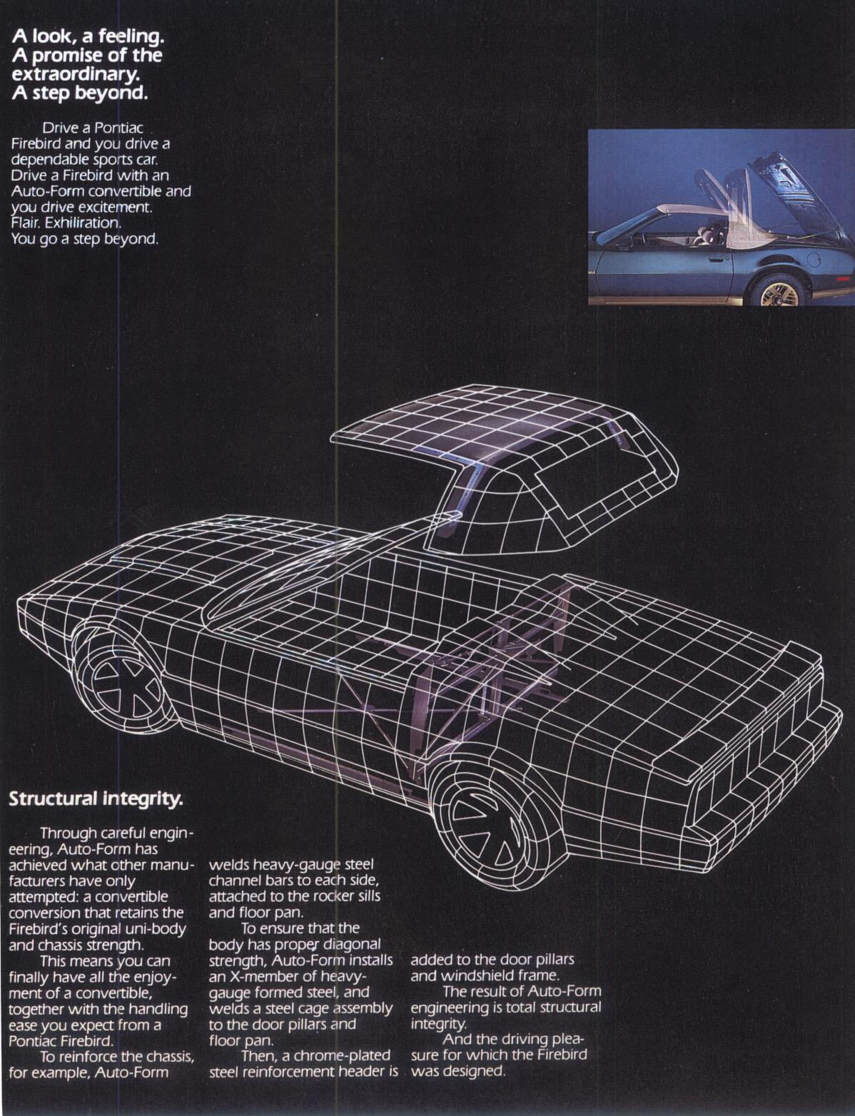 Autoform Firebirds Lot1 1983 Pontiac Firebird Belt Diagram The 1984 Convertible Images Are Large In Event Someone Wants To Print Them So File Size Is On Some Of As Well